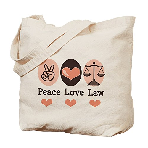 CafePress - Peace Love Law School Lawyer Tote…