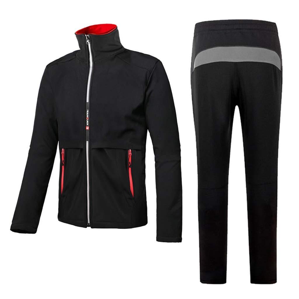 Rain Suit Windproof Reusable RaincoatWaterproof Thickened Unisex Warm Rainwear for Hiking/Mountaineering (Jacket and Trousers Set)
