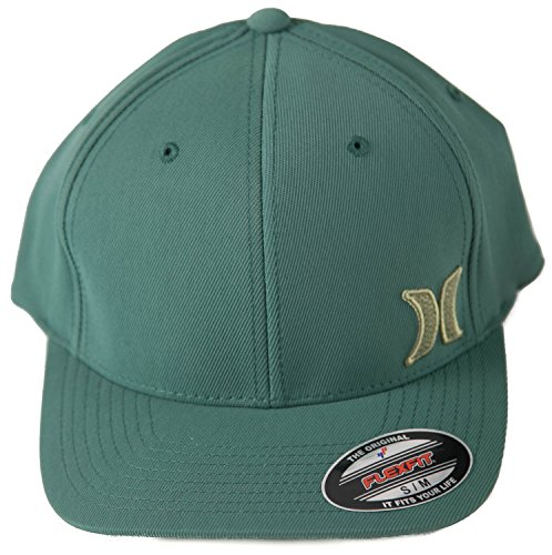 Hurley Hamilton Green Hat S/M Forest Green (Hurley Embroidered Hat)