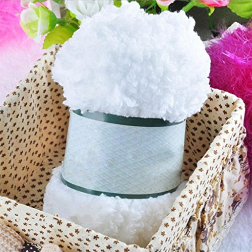 Other Wool Coat (Floralby Warm Soft Chenille Knitting Wool Yarn Craft for Towel Coat Sweater Scarf Scoks (White))