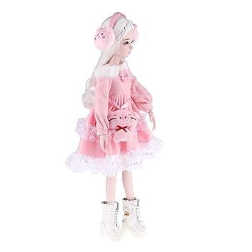 Amazon.es: Homyl 1/3 Mini Traje de Muñecas de Princesa con Bolso ...