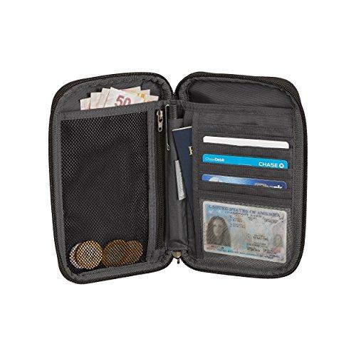 511psPRO4RL - Eagle Creek RFID Travel, Stylish Passport Holder Credit Card Organizer, Black/Charcoal