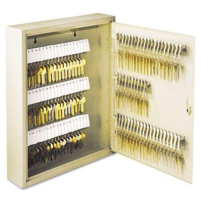 Uni-Tag Key Cabinet, 110-Key,Steel, Sand, 14 x 3 1/8 x 17 1/8, Sold as 1 Each