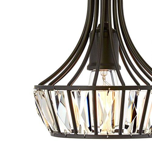 Black Crystal Pendant Nine Light Chandelier in US - 3