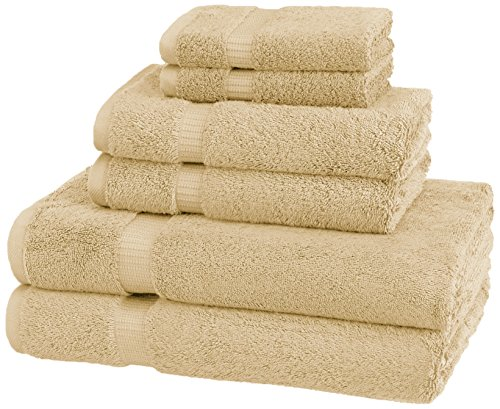 (Pinzon Organic Cotton Towels 6 Piece Set, Sand)