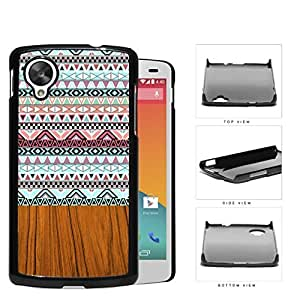 Aztec Artwork And Polished Wood Hard Plastic Snap On Cell Phone Case LG Nexus 5 by runtopwell