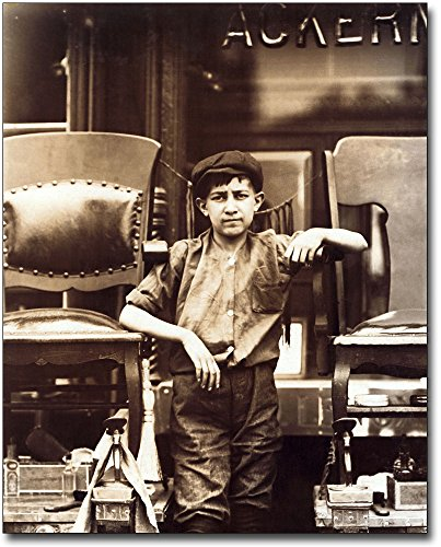 The McMahan Photo Art Gallery & Archive Child Labor Lewis Hine Greenwich, New York 30x40 Silver Halide Photo Print