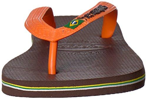 Infradito Uomo Havaianas, Sandalo Marrone Scuro / Arancio