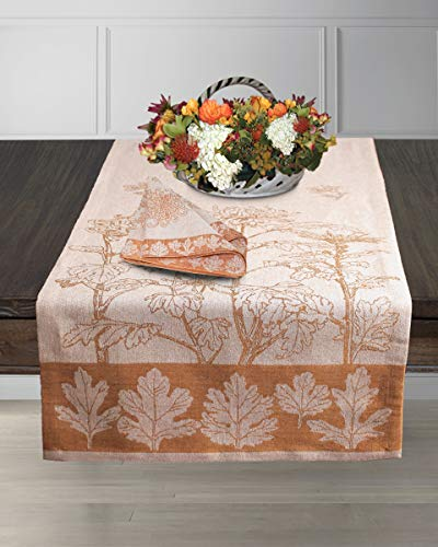 Armani International Table Runner 18 x 90 Triangular End Two Ply Twisted Linen Cotton, Crafted in Europe ()