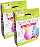Food Coloring - ColorKitchen Easter Egg Coloring Kit (2 Pack) - Colors: Yellow/Orange, Blue, Purple - Natural - Vegan - Non-GMO - No Artificial Food Dyes - Mixing Brush - Egg Decorating Booklet