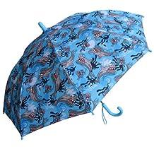 RainStoppers W104CHSHARK Boy's Shark Print Umbrella, 34-Inch