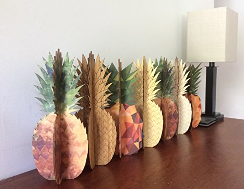 Cardboard Safari Wood Pineapple Home Decor Piece | Made in the USA (Watercolor Birch) by Cardboard Safari (Image #3)