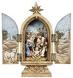 "10"" Josephs Studio Religious Holy Family Christmas Nativity Triptych"