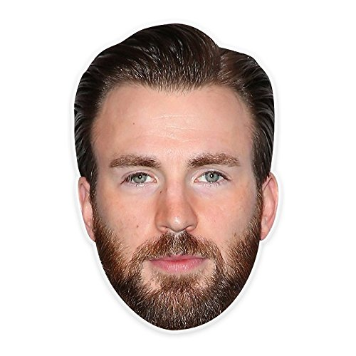 Neutral Chris Evans Mask, Perfect for Halloween, Masquerades, Parties, Festivals, Concerts - Jumbo Size Waterproof -