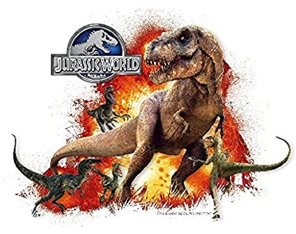 Amazon Com Jurassic World Park Edible Cake Topper Frosting Sheet