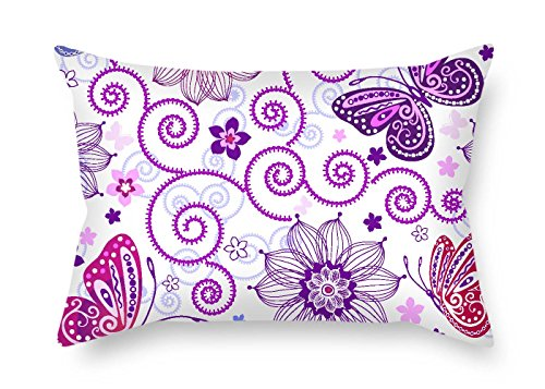 - Pillow Covers Butterfly 18 X 26 inches / 45 65 cm Best Fit Bar Boys Drawing Room Study Room Lounge Lover Twice Sides