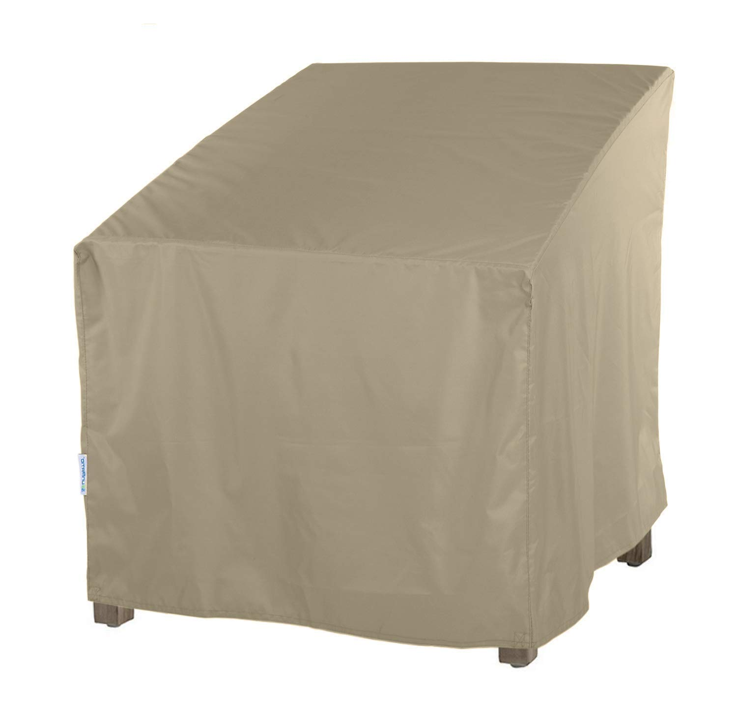 """SunPatio Outdoor Oversized Club Chair Cover, Water Resistant, Lightweight, Helpful Air Vents, All Weather Protection, 40"""" W x 34"""" D x 39"""" H, Neutral Taupe"""