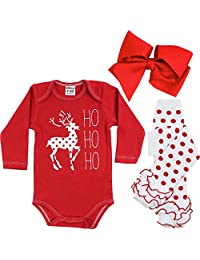 juDanzy Halloween & Christmas Baby Gift Box outfit set (9-12 Months, Ho Ho Ho)
