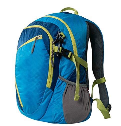Xin Su Ultra-durable Ligero Mochila De Viaje Excursiones Bolsas De Día Ultra-ligero Viajes Al Aire Libre Camping Montar Mochila Multi-funcional. Multicolor Blue