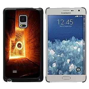 Be Good Phone Accessory // Dura Cáscara cubierta Protectora Caso Carcasa Funda de Protección para Samsung Galaxy Mega 5.8 9150 9152 // Abstract Flames