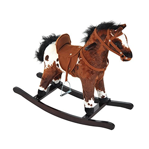 [Kids Plush Rocking Horse Ride On Toy Neighing Galloping Sounds With Ebook] (18 Month Old Lamb Costume)