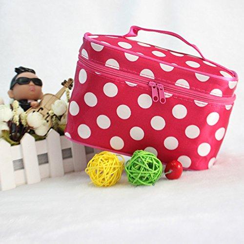 UltiFit (TM) se?ora de las mujeres del viaje de tocador maquillaje cosm¨¦tico bolsa de los bolsos de lavado del organizador del bolso de almacenamiento F