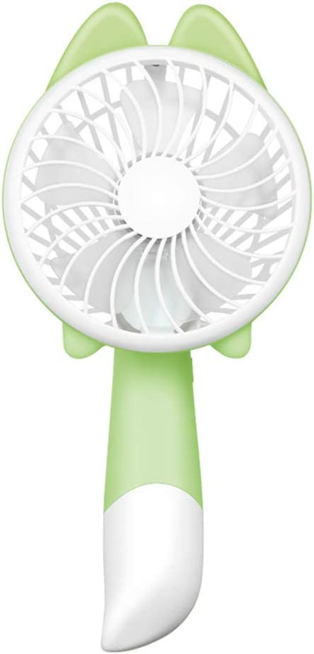 USB Table Desk Personal Fan Handheld Fan Mini Small Portable Personal Rechargeable Desk Desktop Table Cooling USB Fan Quiet With 2500mAh Battery 2 Speeds Cute Design For Home Office Outdoor And Travel