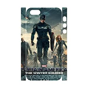 TOSOUL Cell phone Protection Cover 3D Case Captain America For Iphone 5,5S