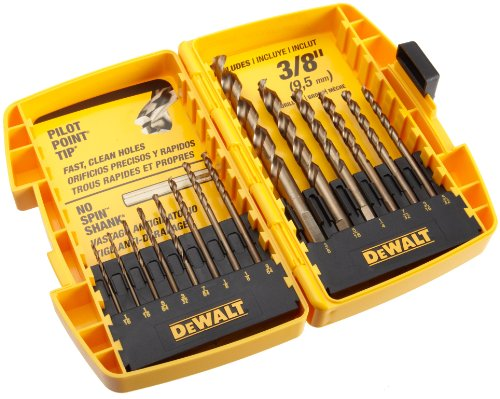 DEWALT DW1169 14-Piece Pilot-Point Twist Drill Bit Assortment