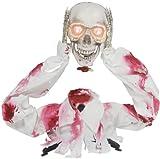 ANIMATED GROUNDBREAKER PULLS HEAD OFF SKELETON HALLOWEEN PROP Haunted House Yard SS80002