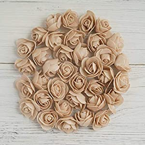 "Efavormart 36 pcs 2"" Real Touch 3D Artificial DIY Foam Rose Flower Head for Decoration 110"