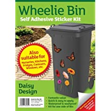 Wheelie bin stickers - Flower and butterfly by MONOGRAM Classic Signs