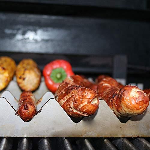 Ensemble de 4 pièces pour barbecue - Dimensions XL : 30 x 9,5 cm - Accessoires de barbecue en acier inoxydable