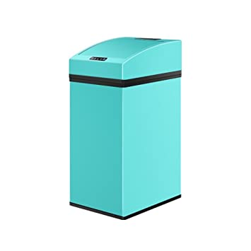 Geekinstyle Mini Automatic Trash Cans Touchless Automatic Motion Sensor Trash  Can Functional Can Color Blue Size