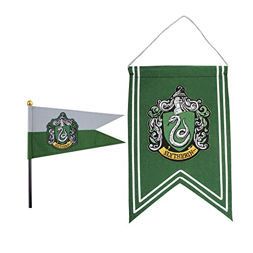 Harry Potter Official Banner & Flag Pennant Set - 12 x 17 inches (Slytherin) (Slytherin Flag)
