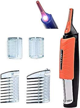 Herramienta de depilación de afeitado 2 en 1 con luz LED Bigote ...