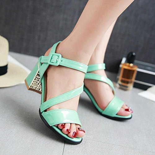 VulusValas Blue Femmes Bout Sandales Chaussures Ouvert rRrqCUX