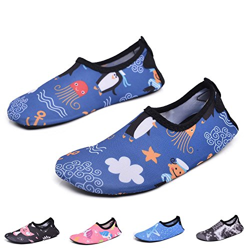 RUNSOON Kids Swim Water Shoes Girls Boys Toddler Aqua Socks Anti Slip Beach Athletic Outdoor Sports
