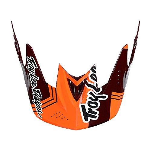 Troy Lee Designs Adult D3 Visor Berzerk BMX Helmet Accessories - Red/One Size by Troy Lee Designs