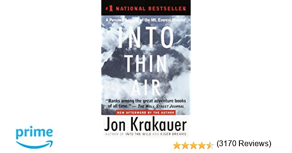 Amazon.com: Into Thin Air: A Personal Account of the Mt. Everest ...