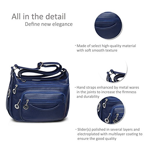 Bag Women Shoulder Travel Handbags Crossbody Blue Messenger Bag Doris Pu Nicole amp; 8B1q4xf