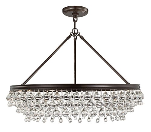Accents Calypso Light - Crystorama 275-VZ Transitional Six Light Chandelier from Calypso collection in Bronze/Darkfinish,