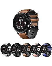 Pulseira Híbrida Couro e Silicone para Amazfit GTR 47mm - Samsung Galaxy Watch 46mm - Gear S3 Frontier - Gear S3 Classic - Marca Ltimports (Marrom)