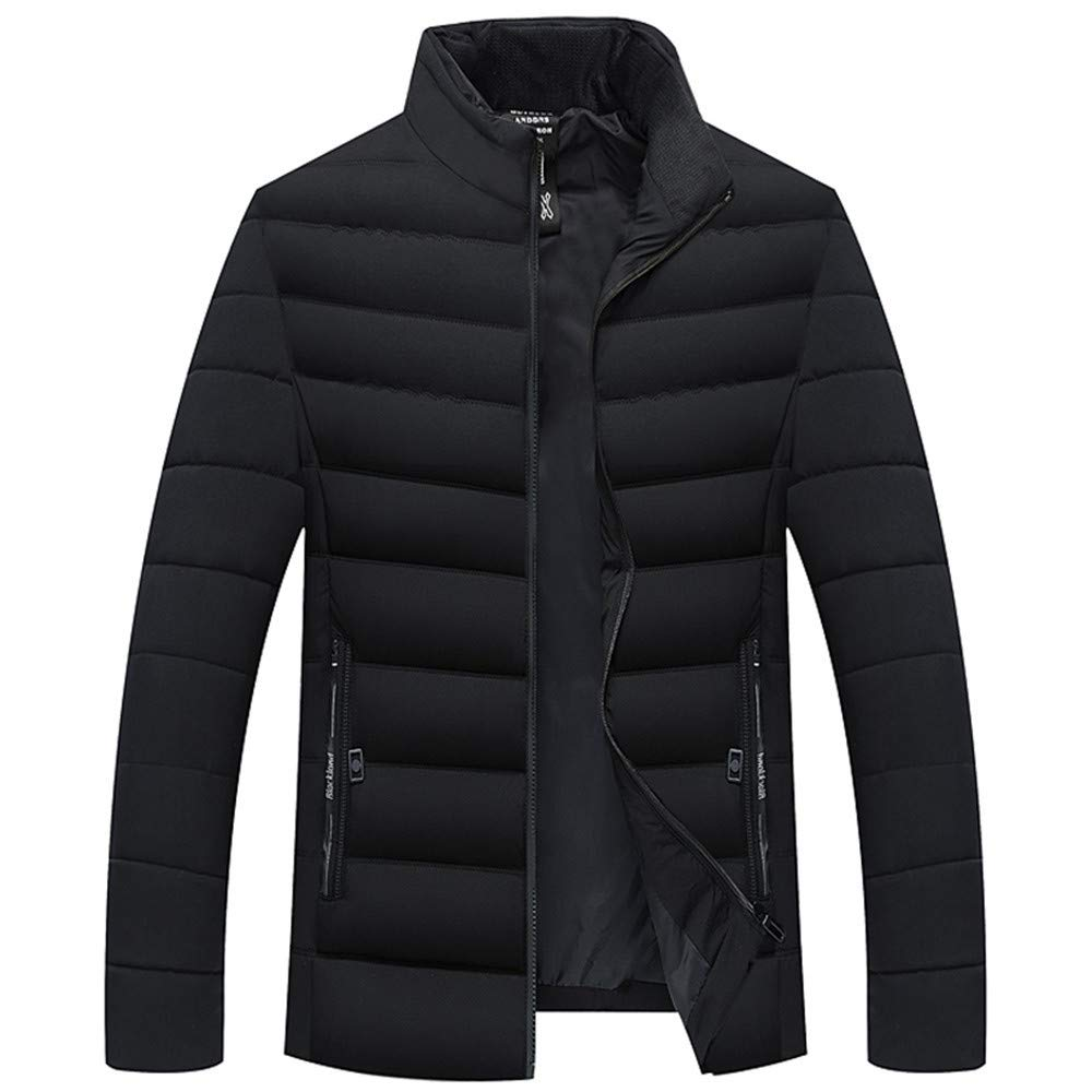 TAGGMY Jackets for Men Hoodie Winter Warm Big and Tall Plus Size Overcoat Casual Slim Long Trench Zipper Caps Coat