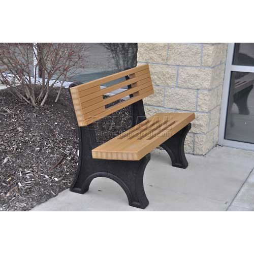 4 39 Ariel Bench Recycled Plastic Cedar Outdoor Benches Patio And Furniture