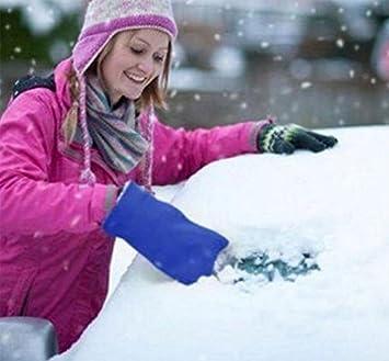 ANGTUO Edelstahl Eis Schaufel Winter Auto Mini Schneer/äumung Assistent Reinigung Auto Windschutzscheibe und Windows 2 St/ück Eiskratzer