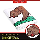 Cheap G128 – California State Flag | 2×3 feet | Double Sided Embroidered 210D – Indoor/Outdoor, Brass Grommets, Heavy Duty Polyester, 3-ply