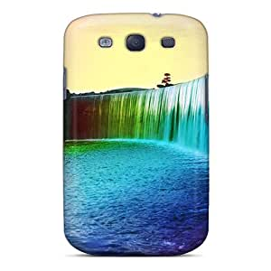 For Galaxy Case, High Quality Rainbow Waterfall For Galaxy S3 Cover Cases