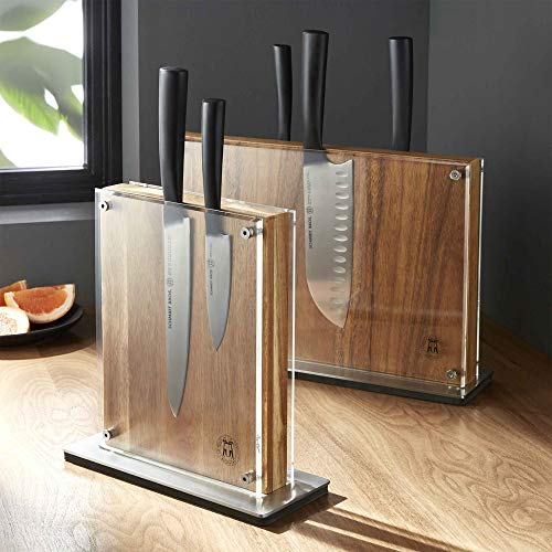 Schmidt Brothers - Acacia Midtown Magnetic Knife Block, Universal Cutlery Storage For 8 - 10, Acacia Hardwood and Acrylic Shield by THE SCHMIDT BROTHERS (Image #5)