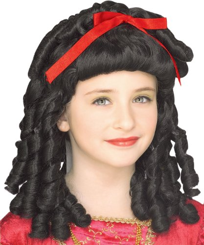 Rubie's Storybook Princess Child's Costume Wig, Black Curls by Rubie's
